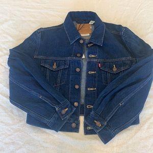 Women's Levi Jean Denim Blue Jacket NWT Small